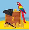 pirate adventure vector image vector image