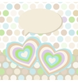 Polka dot background pattern Heart on dot vector image
