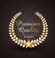 premium quality golden award design vector image vector image