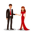 rich couple on romantic date vector image