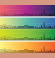 santiago de chile multiple color gradient skyline vector image
