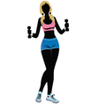 silhouette Fitness vector image
