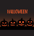 silhouette pumpkin for horror halloween party vector image