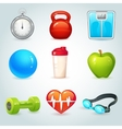 Sport and fitness icons vector image