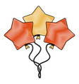 star shape balloon vector image vector image