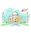Taj Mahal in Agra vector image vector image