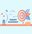 target marketing audience vector image