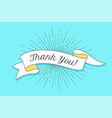 thank you vintage ribbon banner vector image vector image