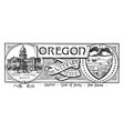 the state banner of oregon the webfoot state vector image vector image