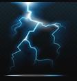 thunder bolt lightning realistic thunderstorm vector image