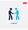 two color cooperate icon from business concept vector image vector image