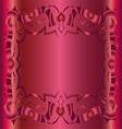 Vintage Royal Background Dark Pink Floral Luxury O vector image vector image