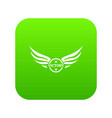 win wing icon green vector image vector image