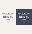 wyoming state textured vintage t-shirt and vector image vector image
