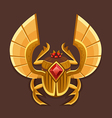 Icon golden scarab vector image