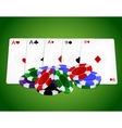 Pocker combinationFull house with chips vector image