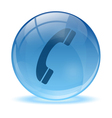 3D glass sphere phone icon vector image vector image