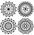 A set of mandalas and lace decorations vector image vector image