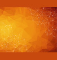 abstract polygonal dark orange background vector image vector image