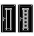 antique wooden door black icons vector image vector image