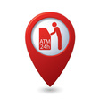 atm icon red pointer vector image