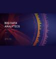 big data business intelligence technology vector image