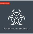biological hazard icon vector image vector image