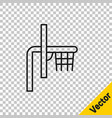 black line basketball backboard icon isolated on vector image vector image