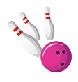 bowling ball crash the pins vector image vector image
