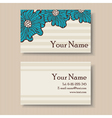business card with big blue flowers vector image vector image