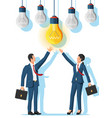 business people creates new idea vector image vector image