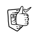 business trusted hand drawn icon design outline vector image