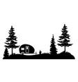 camper forest vector image