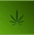 cannabis leaf logo design element paper cut in a vector image vector image
