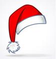cartoon christmas santa claus hat vector image vector image