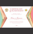 certificate or diploma design template 7 vector image vector image