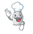 chef unpainted nested russian dolls on cartoon vector image