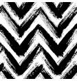 chevron pattern from brush strokes vector image