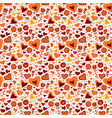 children seamless pattern with hearts and flowers vector image vector image