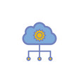 cloud computing flat icon sign symbol vector image