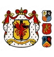 Coat of arms Knight vector image vector image