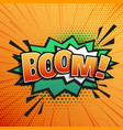 comic sound text effect of boom in pop style art vector image
