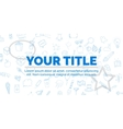Creative blue text your title on white background vector image vector image