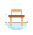 desk student chair school abstract flat color vector image
