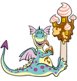dragon with ice cream vector image vector image