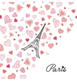 Eifel Tower Paris Surrounded By St vector image vector image