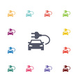 electro car flat icons set vector image