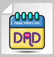 fathers day icons 8 vector image vector image