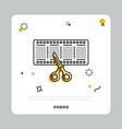 filmstrip with scissors in simple icon vector image
