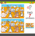 find differences with rabbits animal characters vector image vector image